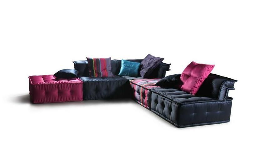 Chloe Ultra Chic Fabric Sectional Sofa