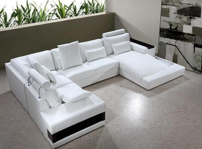 Adjustable Advanced Leather Curved Corner Sofa Columbus