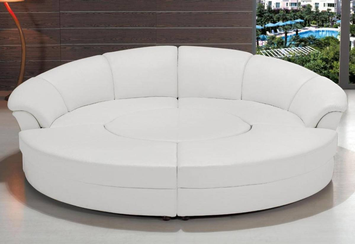 circular sofas living room furniture refined half leather sectional with chaise raleigh 19630