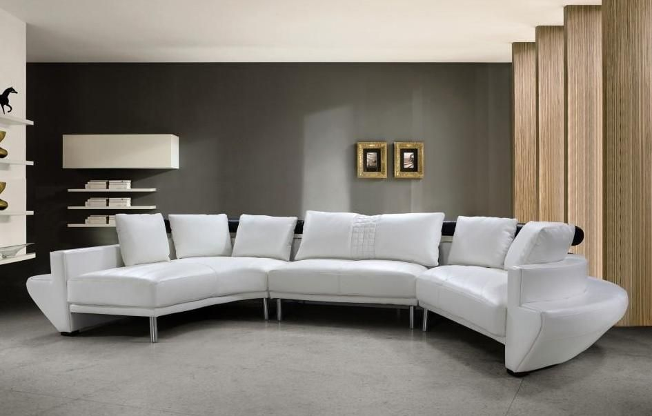 Adjustable Advanced Covered in Half Leather Sectional with Pillows ...
