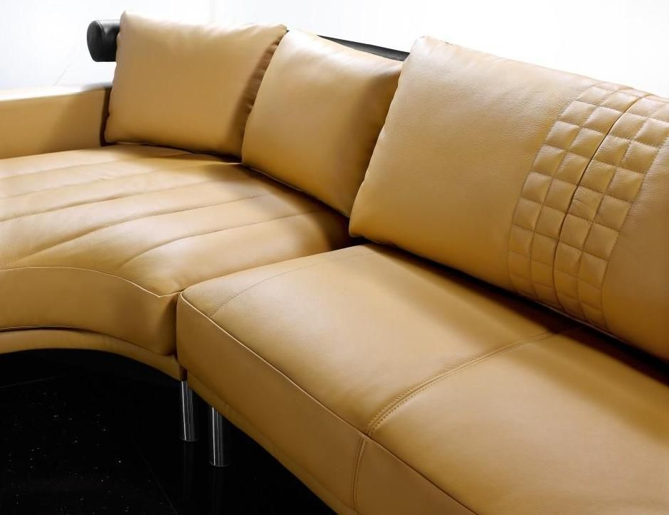 Ultra Modern Pillows : Adjustable Advanced Covered in Half Leather Sectional with Pillows St. Louis Missouri VJUPITER