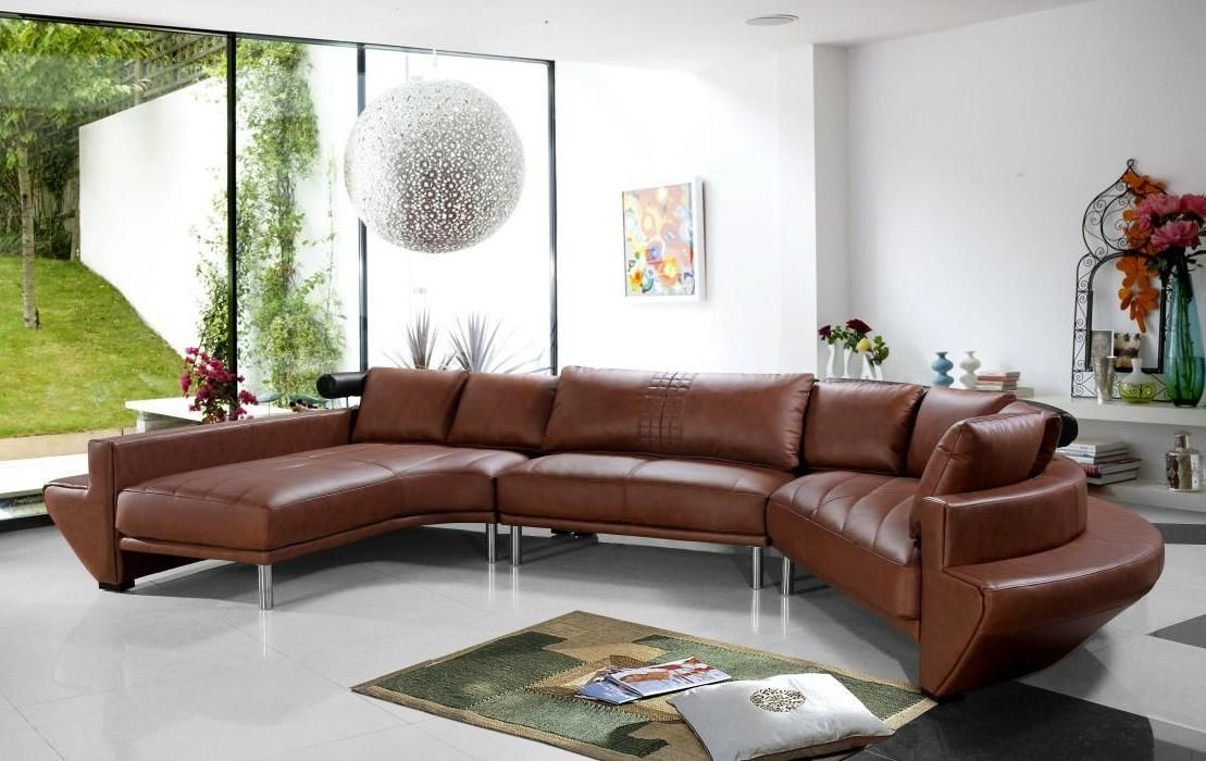 High Class Tufted Leather Upholstery Corner L Shape Sofa