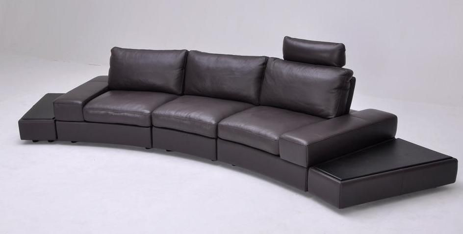 Overnice Curved Sectional Sofa In Leather Virginia Beach
