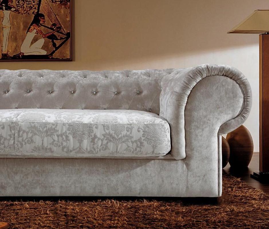 Living Room Furniture Ct: Graceful Tufted Microfiber Living Room Furniture