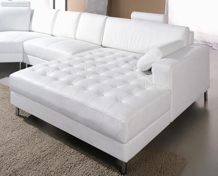 Sectional Sofa In Half Leather With Pillows Larger Image