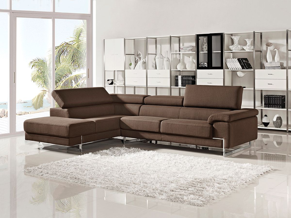 Modern fabric sectional sofas sleeper l shape corner couches for Contemporary sectional sofas
