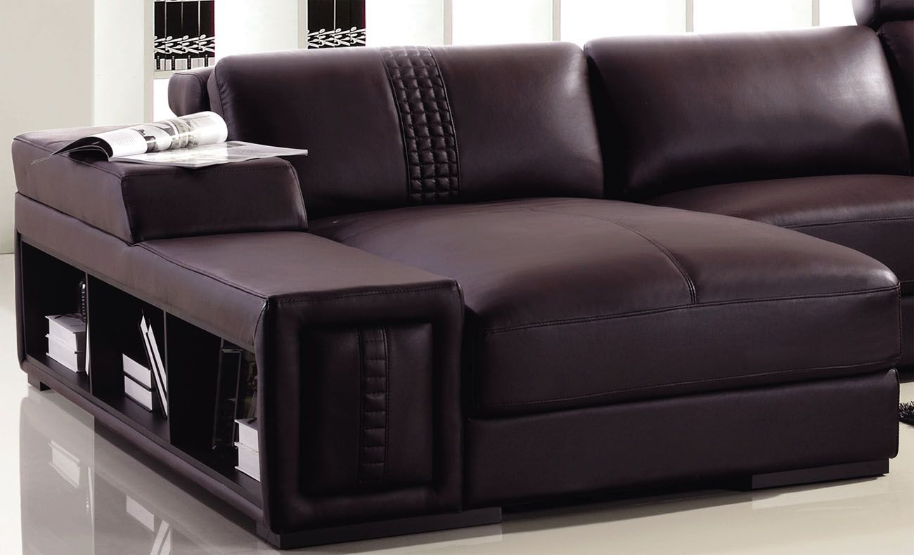 Advanced Adjustable Modern Leather L shape Sectional with