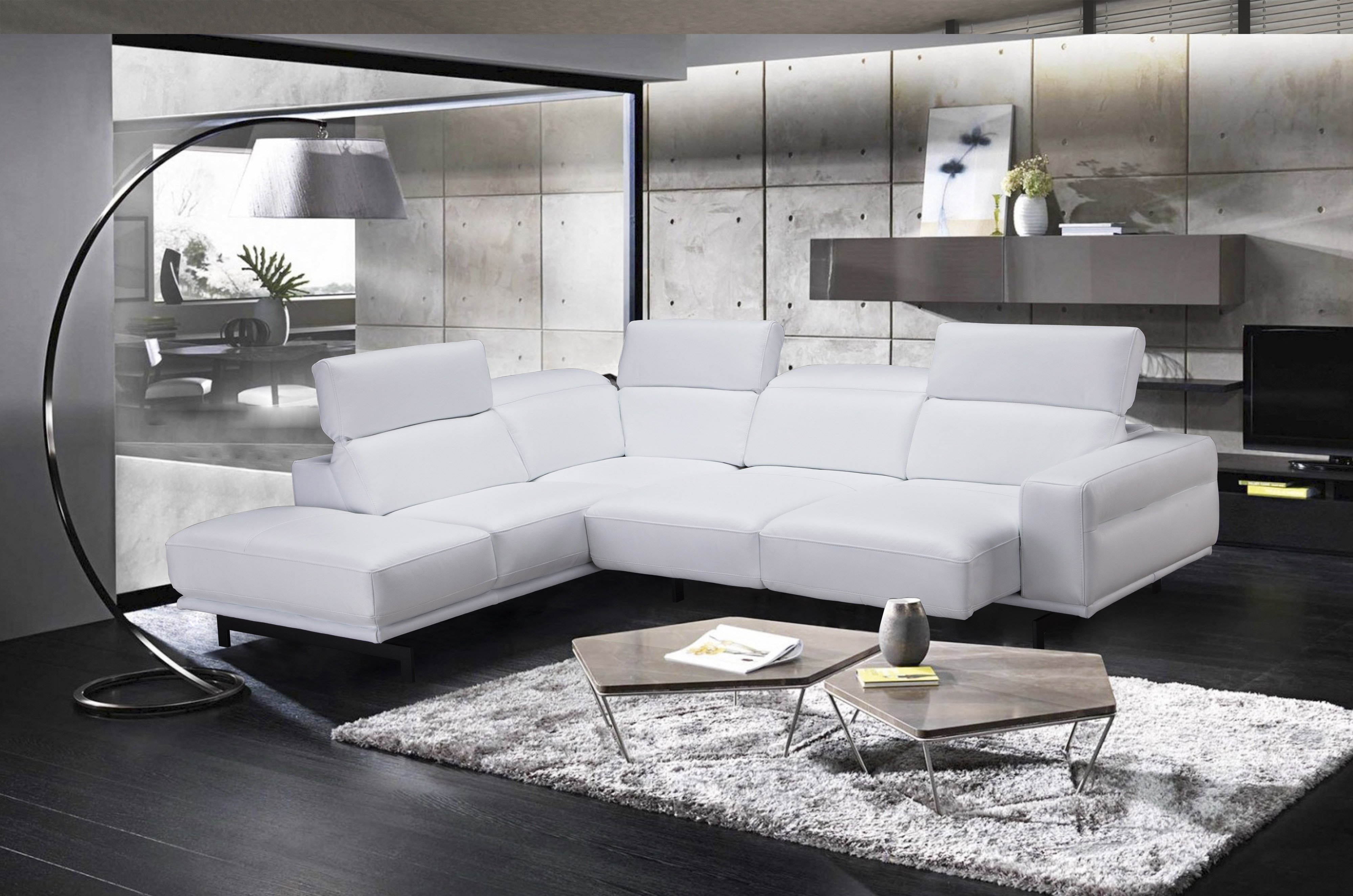 Awesome Graceful Leather Sectional With Chaise Evergreenethics Interior Chair Design Evergreenethicsorg