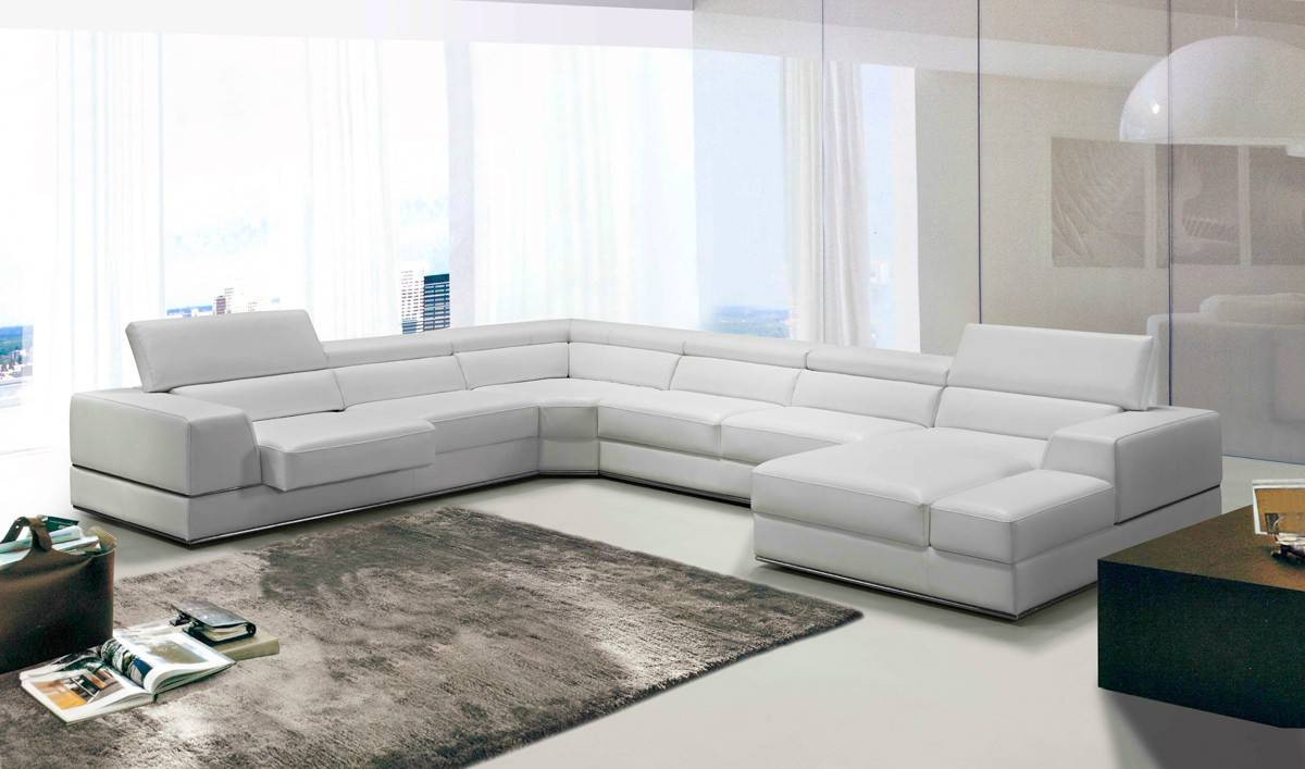 Elite Sectional Upholstered In Real Leather Minneapolis