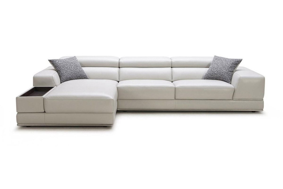 Adjustable Advanced 1/2 Italian Leather Sectional With