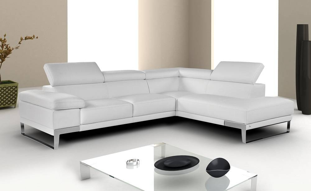 Outstanding Breathtaking White Sectional With Italian Leather Machost Co Dining Chair Design Ideas Machostcouk