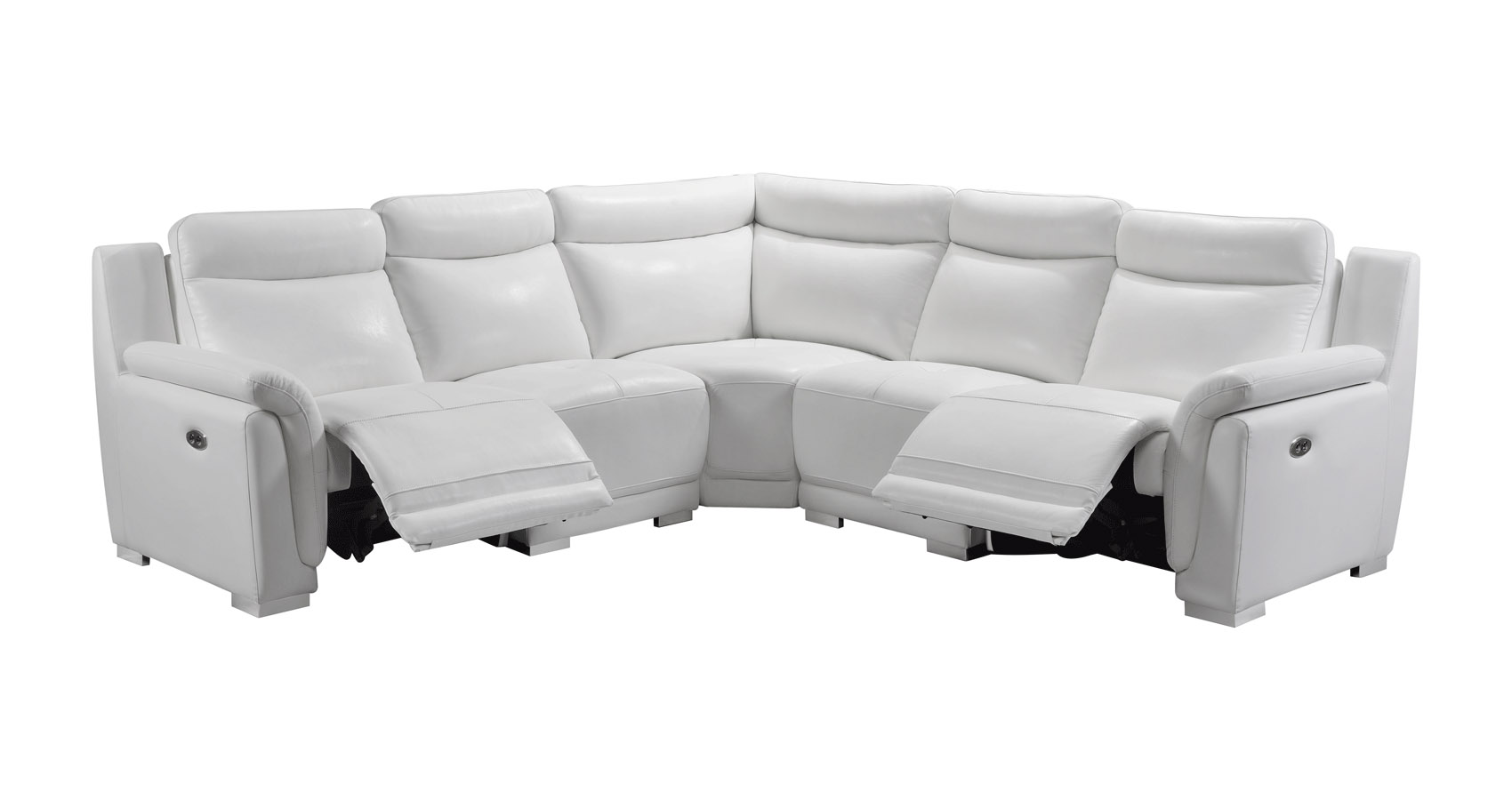 Italian Leather Sectional Sofa Set with Recliner Chair - Click Image to Close