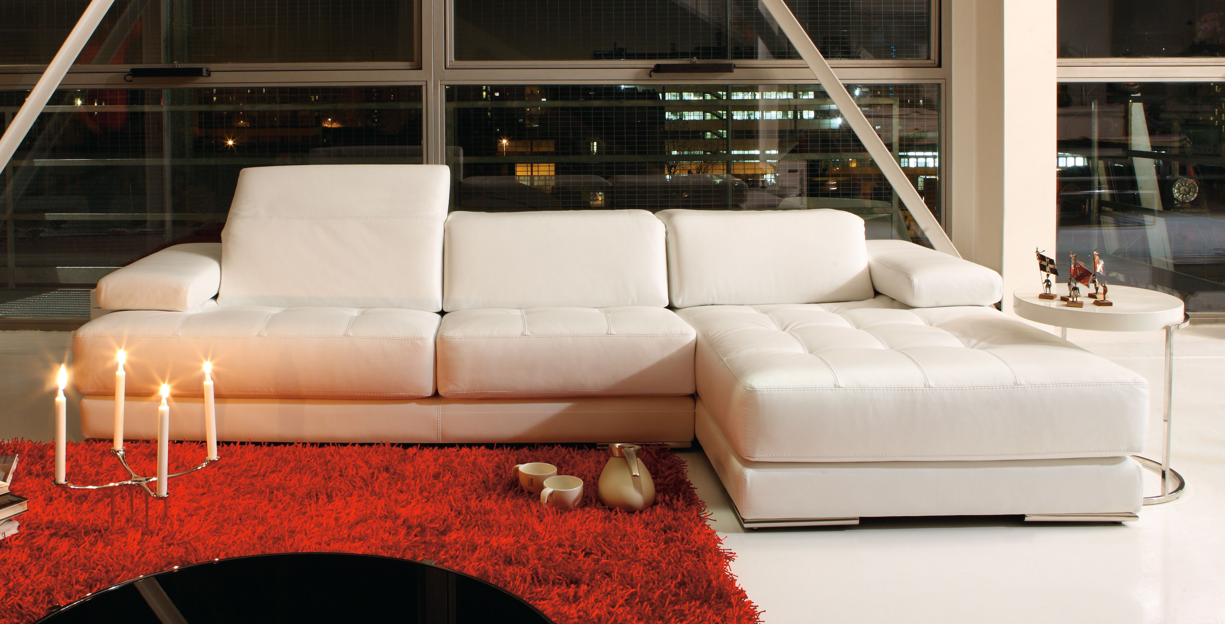 Elite 100% Italian Leather Sectional Rockford Illinois Antonio