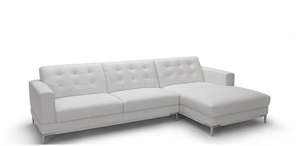 Refined Italian Top Grain Leather Sectional Sofa Fort