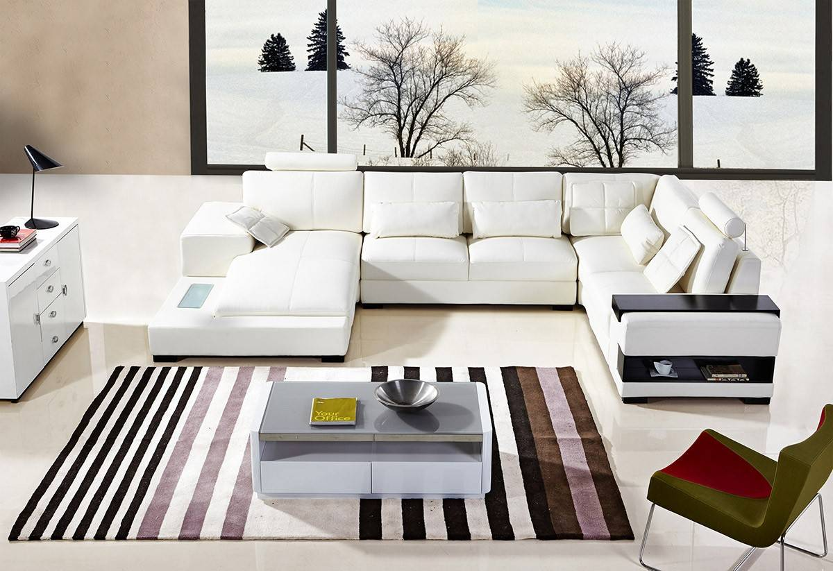 Peachy Stylish Tufted Leather Curved Corner Sofa With Pillows Caraccident5 Cool Chair Designs And Ideas Caraccident5Info