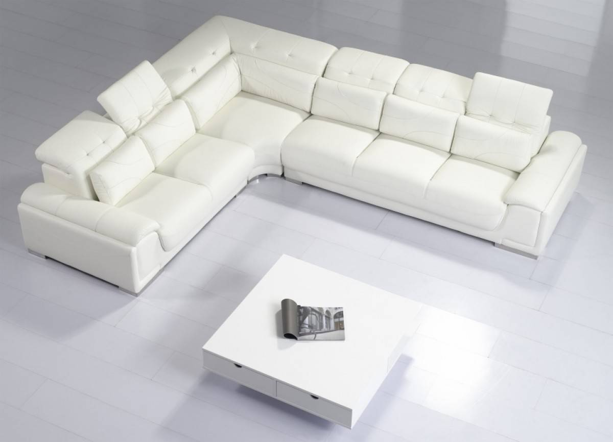 Outstanding Stylish And Comfortable Sectional In Italian Leather Upholstery Dailytribune Chair Design For Home Dailytribuneorg
