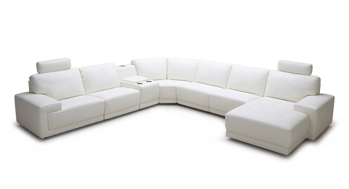 Stylish Top Grain Leather Sectional Glendale Arizona V