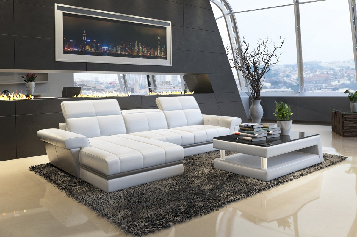 Exceptionnel Genuine And Italian Leather, Corner Sectional Sofas