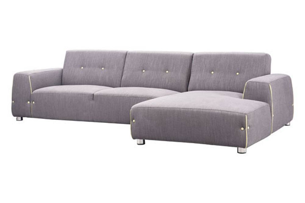 Contemporary Modern Fabric Sectional Sofa in Two Unique Colors