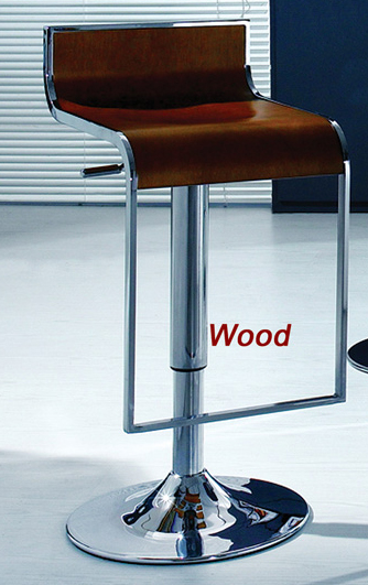 Stylish Bar Stool With Metal Leg And Chrome Round Base 3