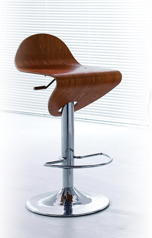 Contemporary Light Zebrano Wood Finish Curved Bar Stool  : ah b215 wood bar stool from www.primeclassicdesign.com size 510 x 800 jpeg 124kB