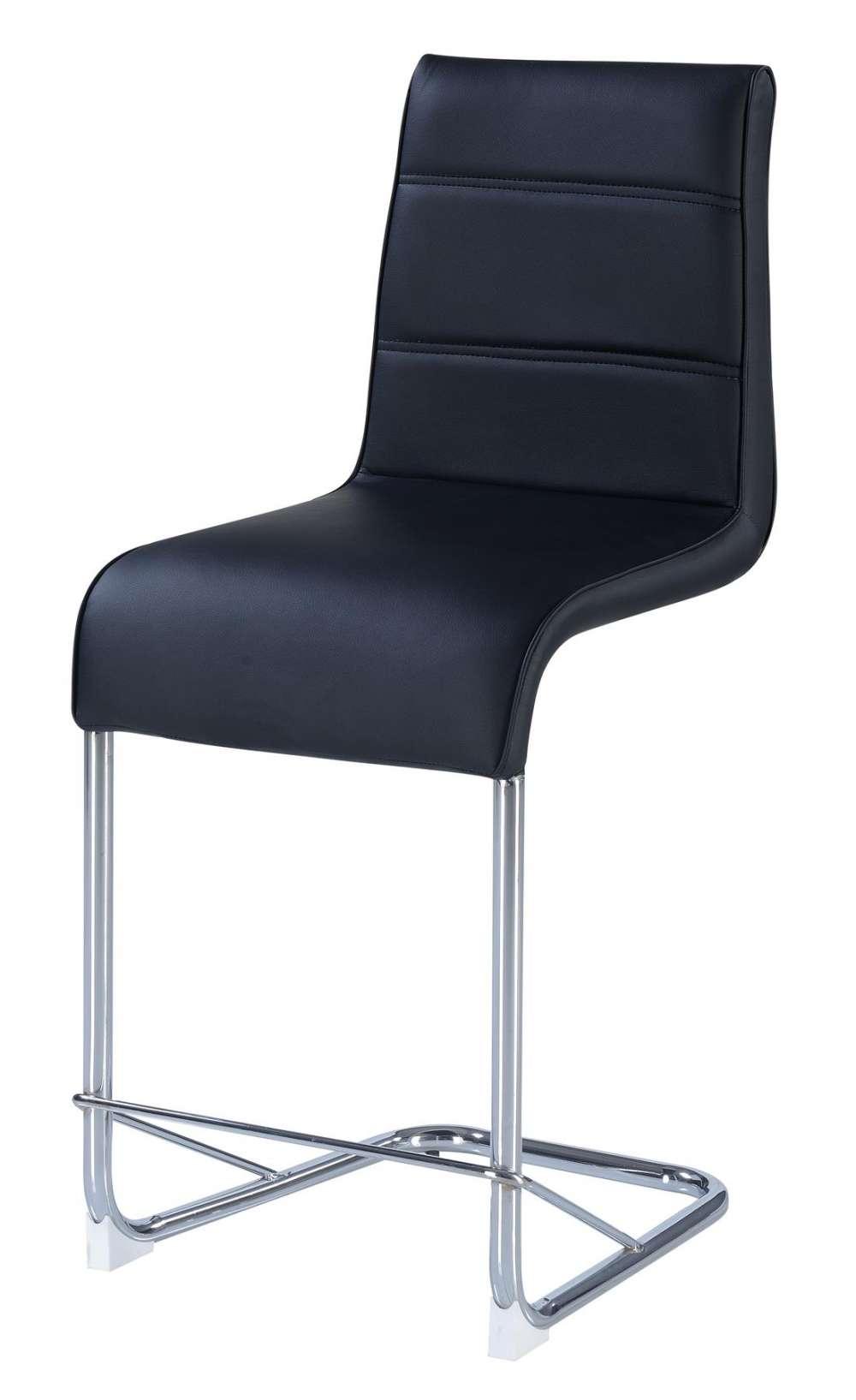 Sensational Black Bar Stool With Chrome Frame Short Links Chair Design For Home Short Linksinfo