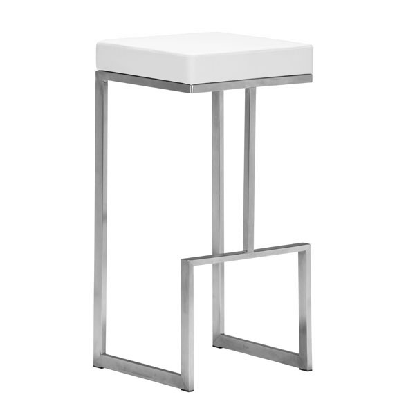 Stylish Square Counter Stool With Stainless Steel Frame