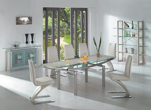 Contemporary Dining Buffet With Frosted Glass Doors Los Angeles California  AE108