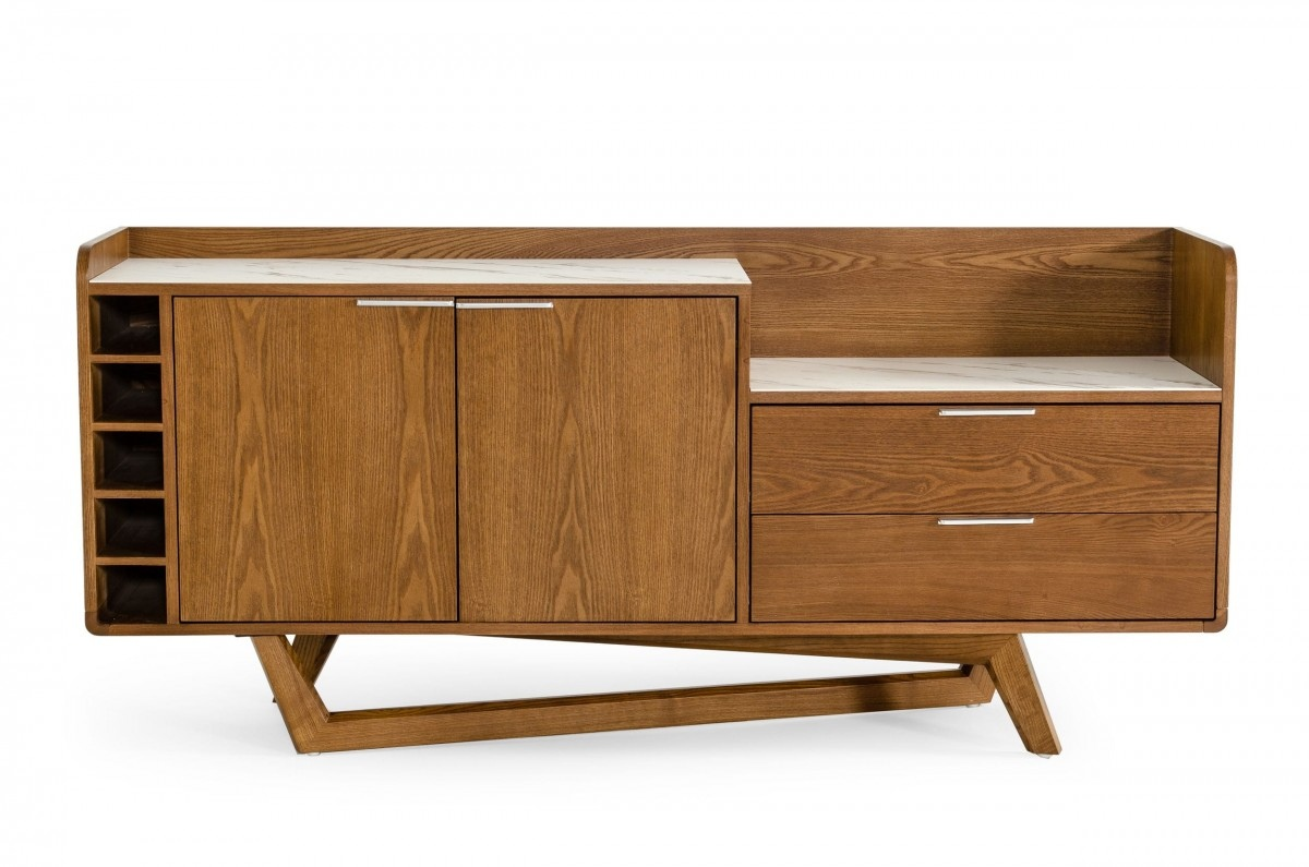 Contemporary White Walnut Buffet for Dining Room - Click Image to Close