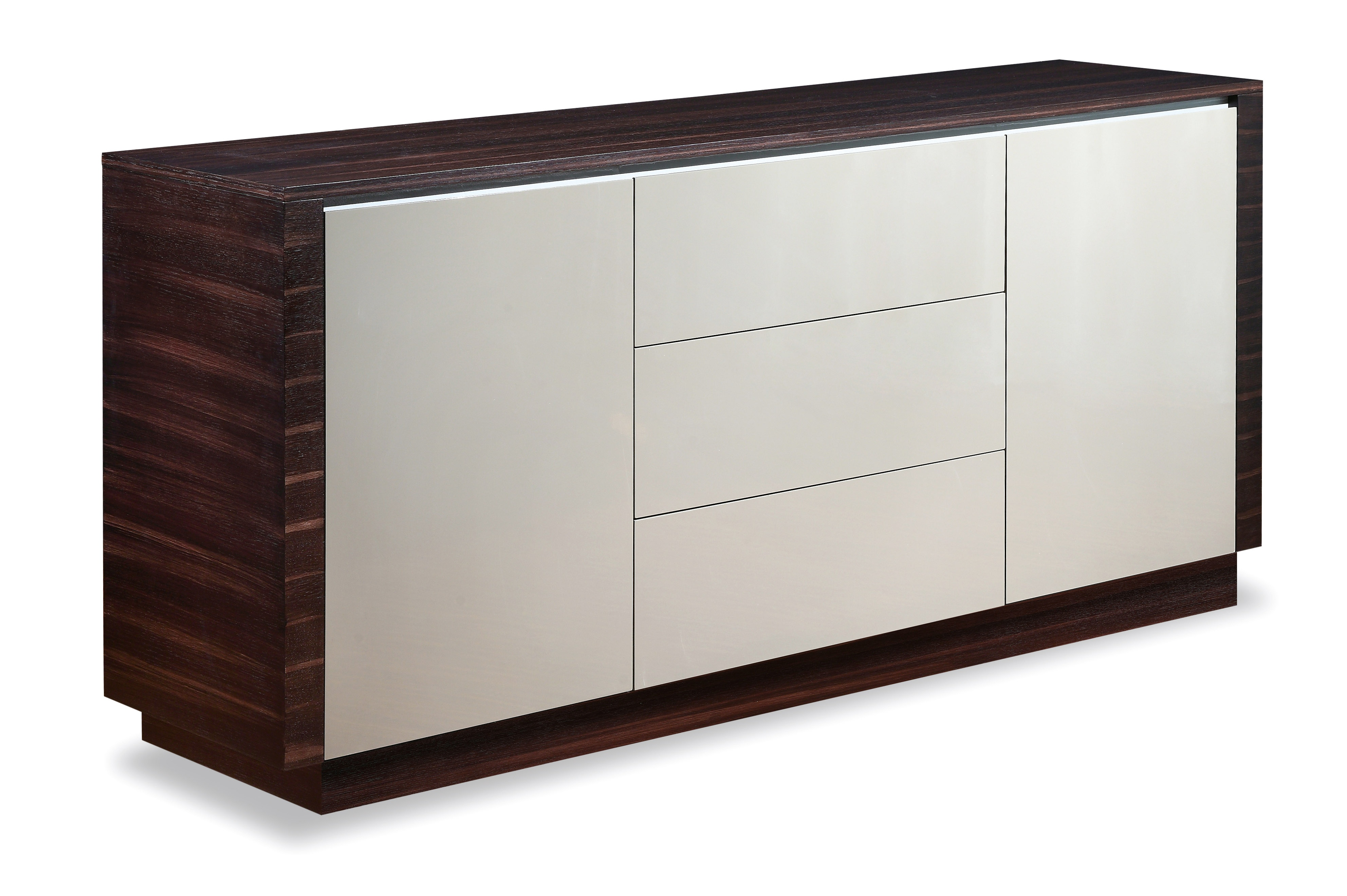 Modern And Italian Buffets Stylish Accessories Grey With Walnut Doors Dining Room