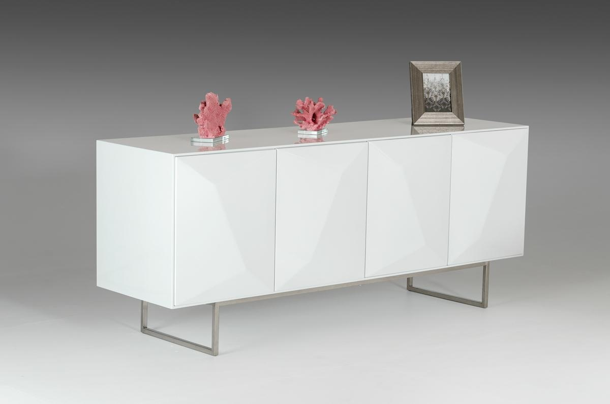 Luxury contemporary white 3d buffet with four doors for Sideboard 3d