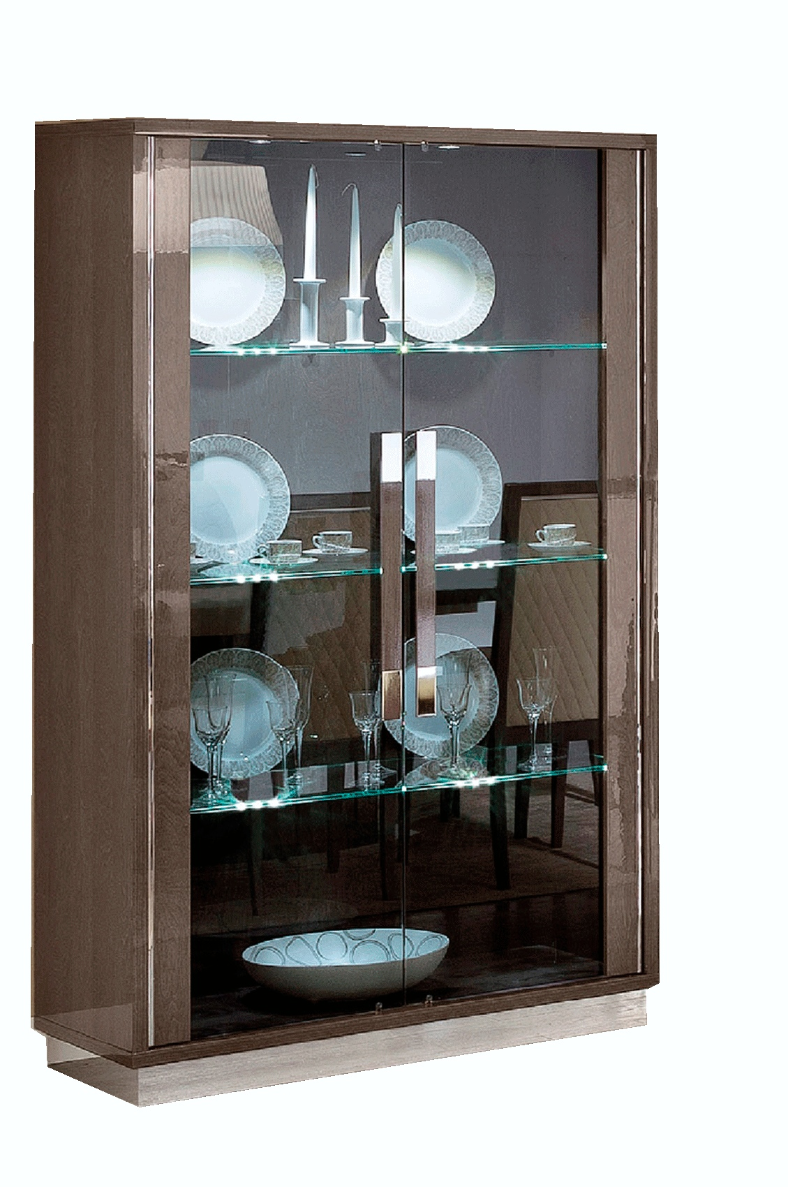 Glass Doors and Shelves Two Door China from Italy