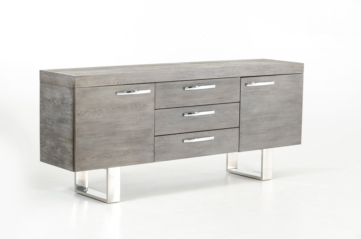 grey wood buffet with doors and drawers jacksonville florida vig lola. Black Bedroom Furniture Sets. Home Design Ideas