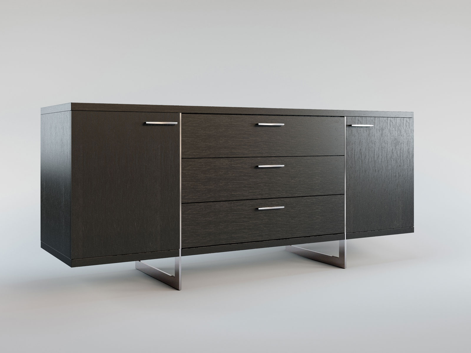 Contemporary buffet table furniture - Contemporary Sideboard Buffet With Three Storage Drawers Tulsa Oklahoma Mlgre