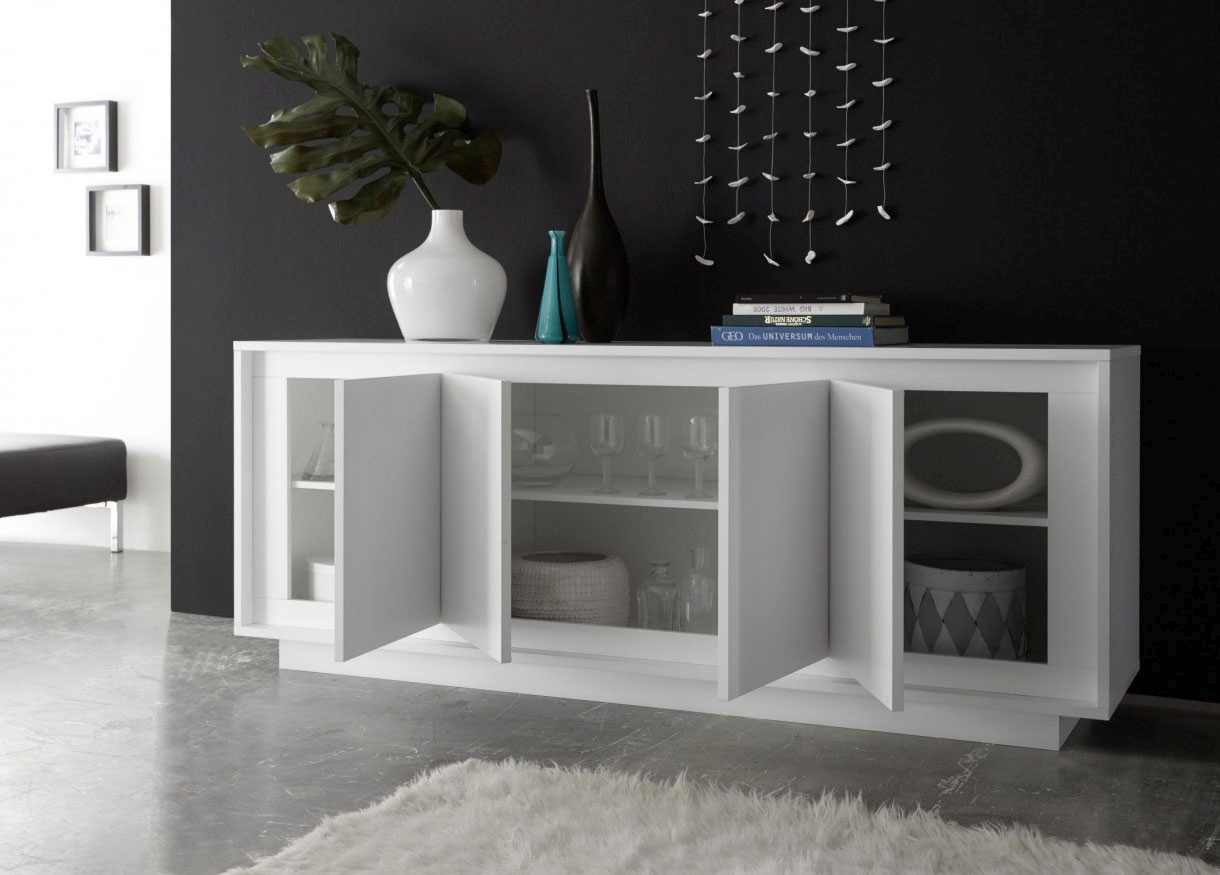 contemporary sideboard buffet with classic design san antonio texas vv sky white matte. Black Bedroom Furniture Sets. Home Design Ideas