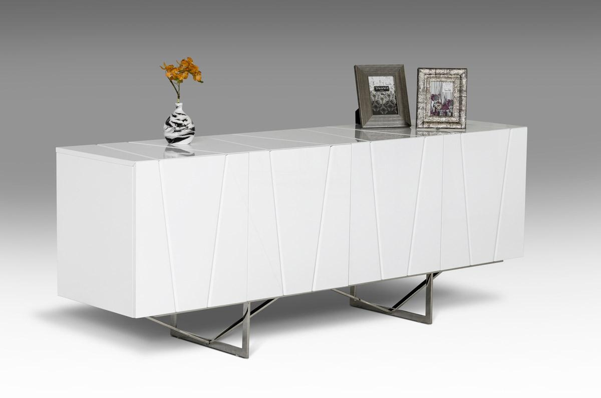 Unique Design Four Door Buffet With Stainless Steel Legs