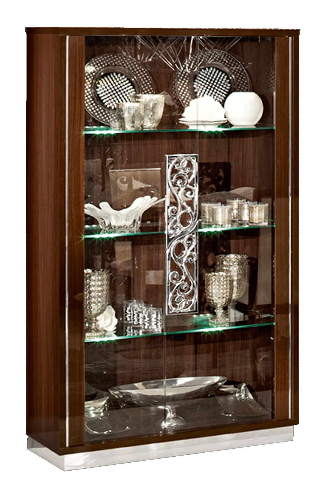 Wood and Glass Doors Modern Curio from Italy