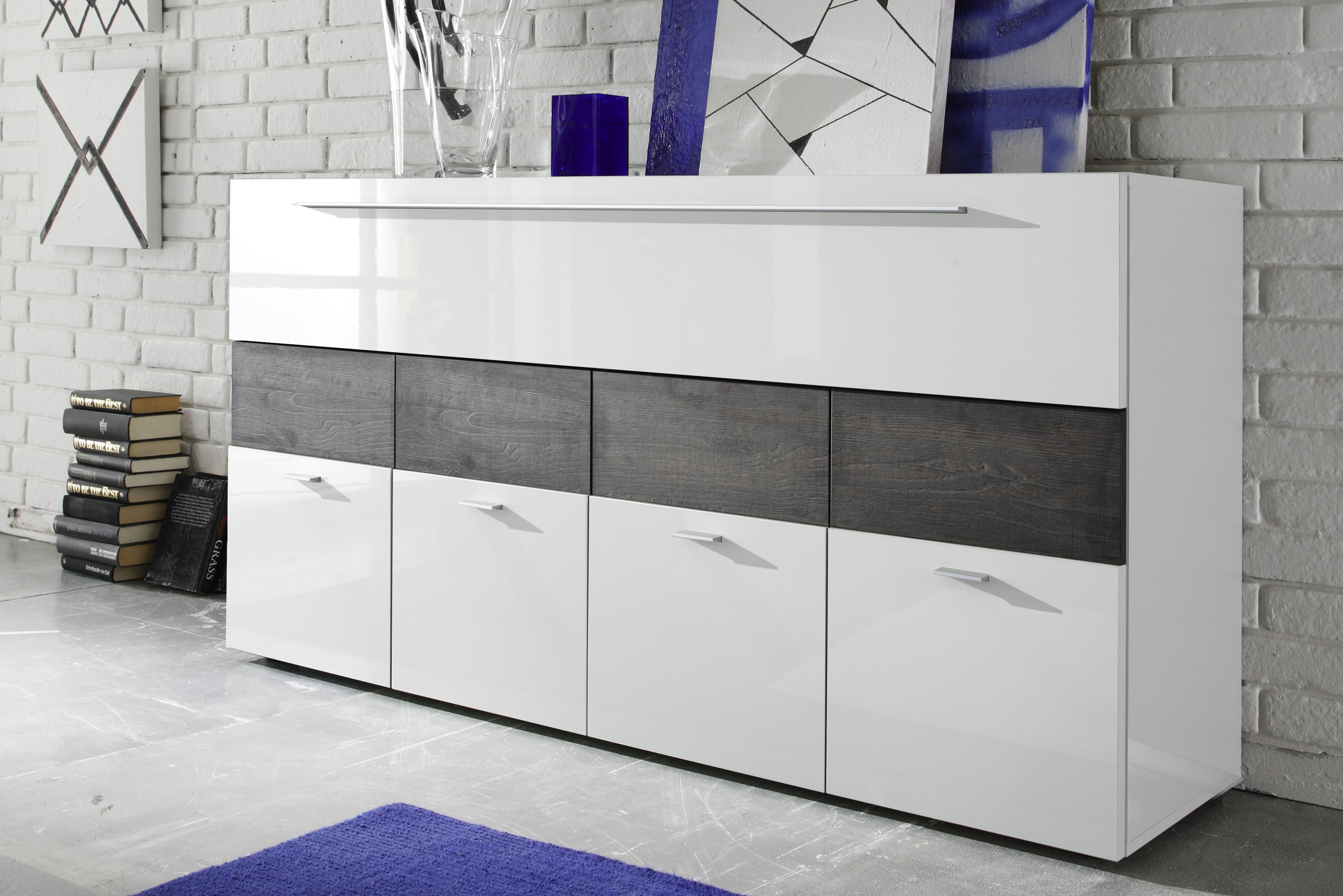 Gentil SKU 39369. Contemporary White Dining Room Buffet ...
