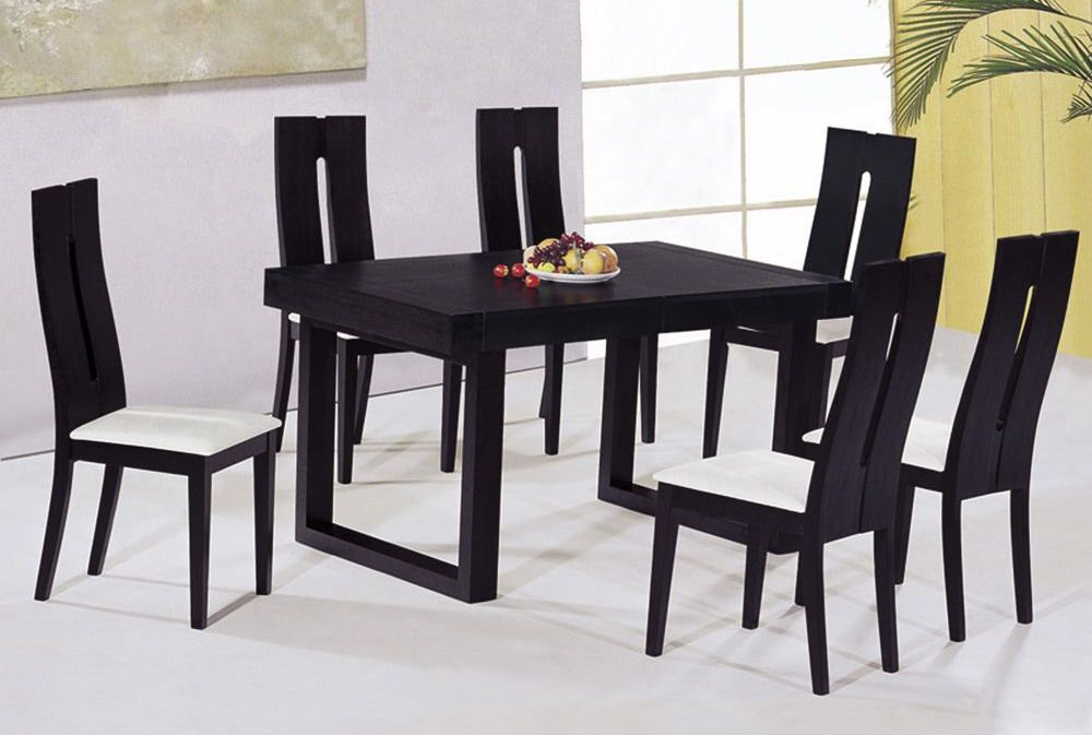 Contemporary Luxury Wooden Dinner Table And Chairs Buffalo New