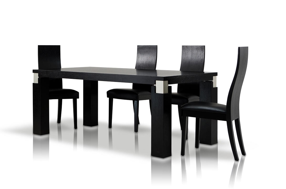 Attractive Dining Sets With Chairs. Classic Black Oak ...