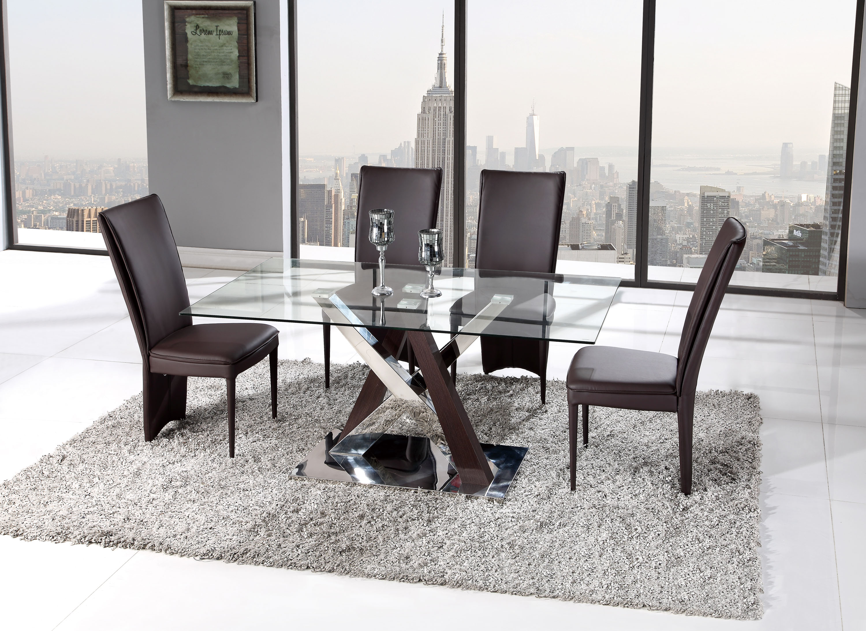 Incredible Five Piece Rich Chocolate Brown Dining Set Download Free Architecture Designs Crovemadebymaigaardcom