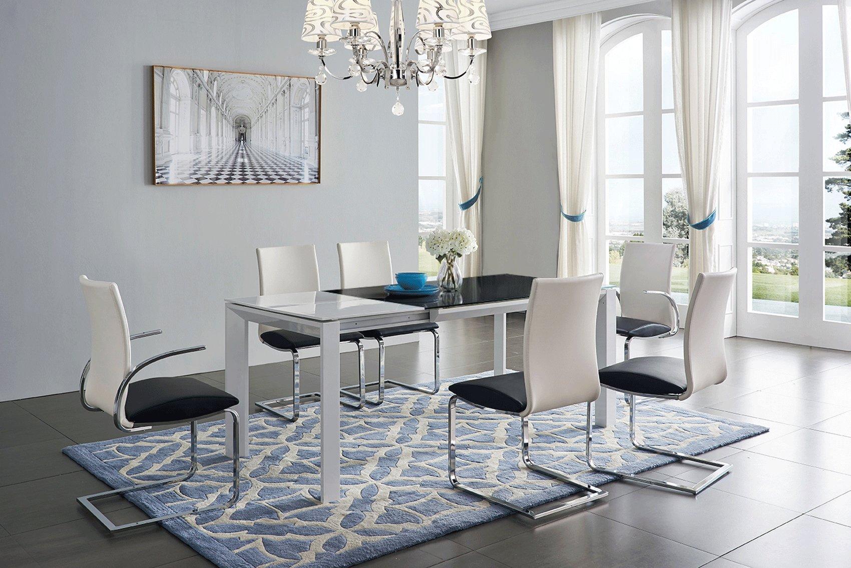 High Class Rectangular Glass Top Dining Furniture Set