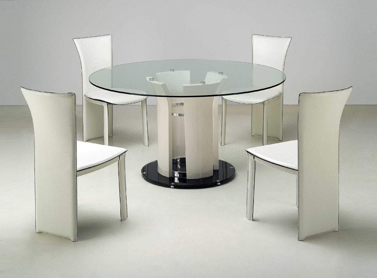 Modern White Dining Room Set Round Glass Dining Room Sets Collection Contemporary Dining Room