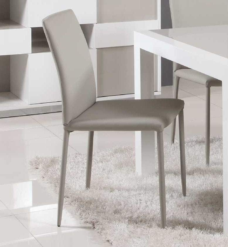 Extendable glass top leather dining table and chair sets for Contemporary leather dining chair