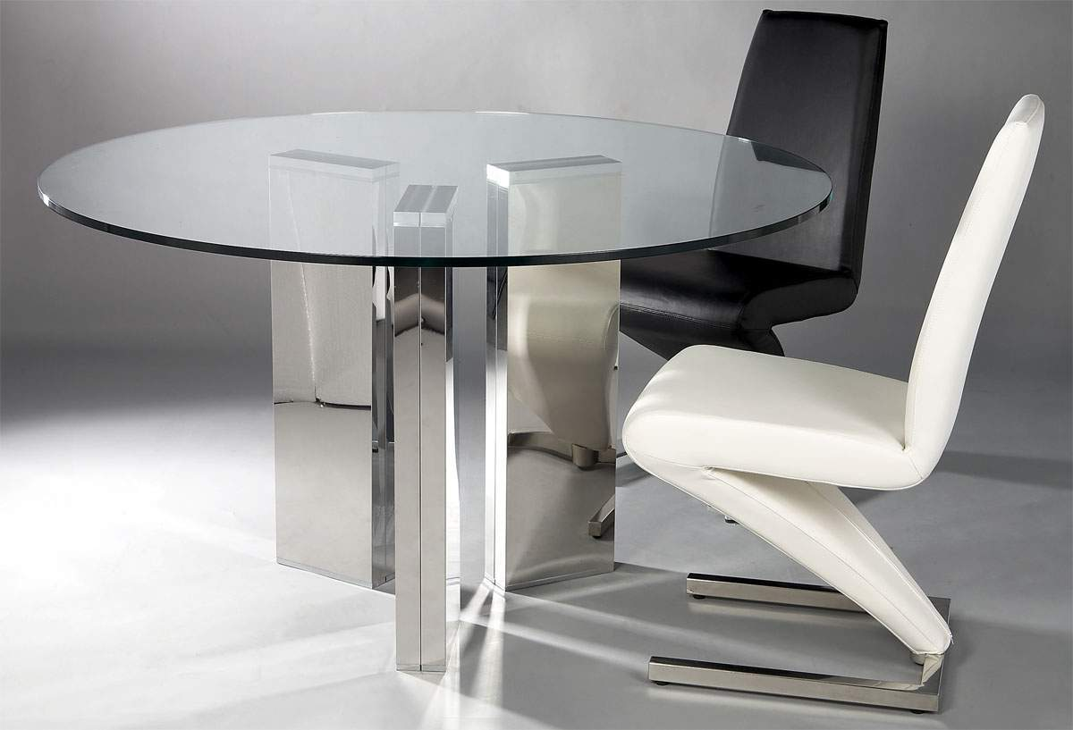 Dining Sets With Chairs. Contemporary Round Glass Top ...