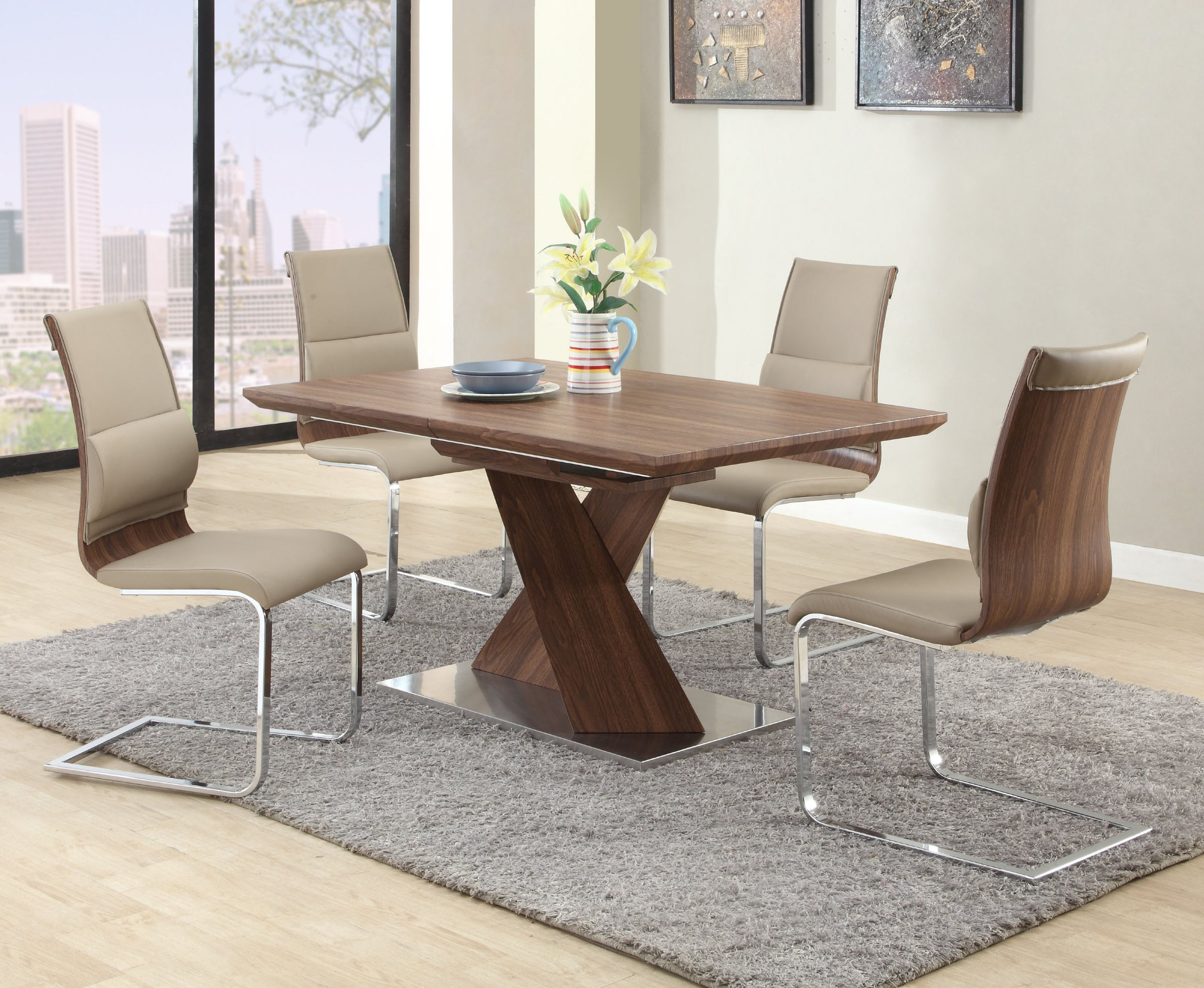 Extendable In Wood Modern Dining Room Las Vegas Nevada CHBET