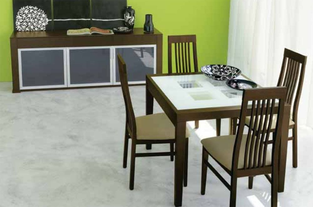 Dining Sets With Chairs Extendable Wooden Made In Italy Modern