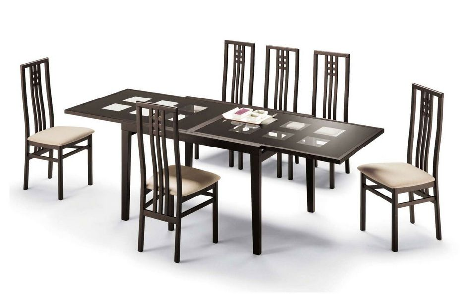 High Class Glass Top Designer Table Set Fort Lauderdale Florida