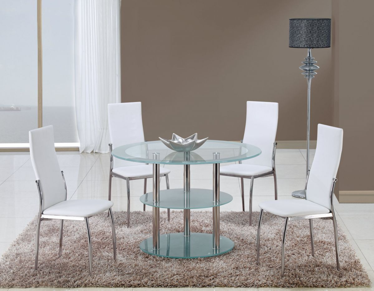 Contrasting Black Or White Contemporary Dining Room Set Columbus Ohio GF79D475