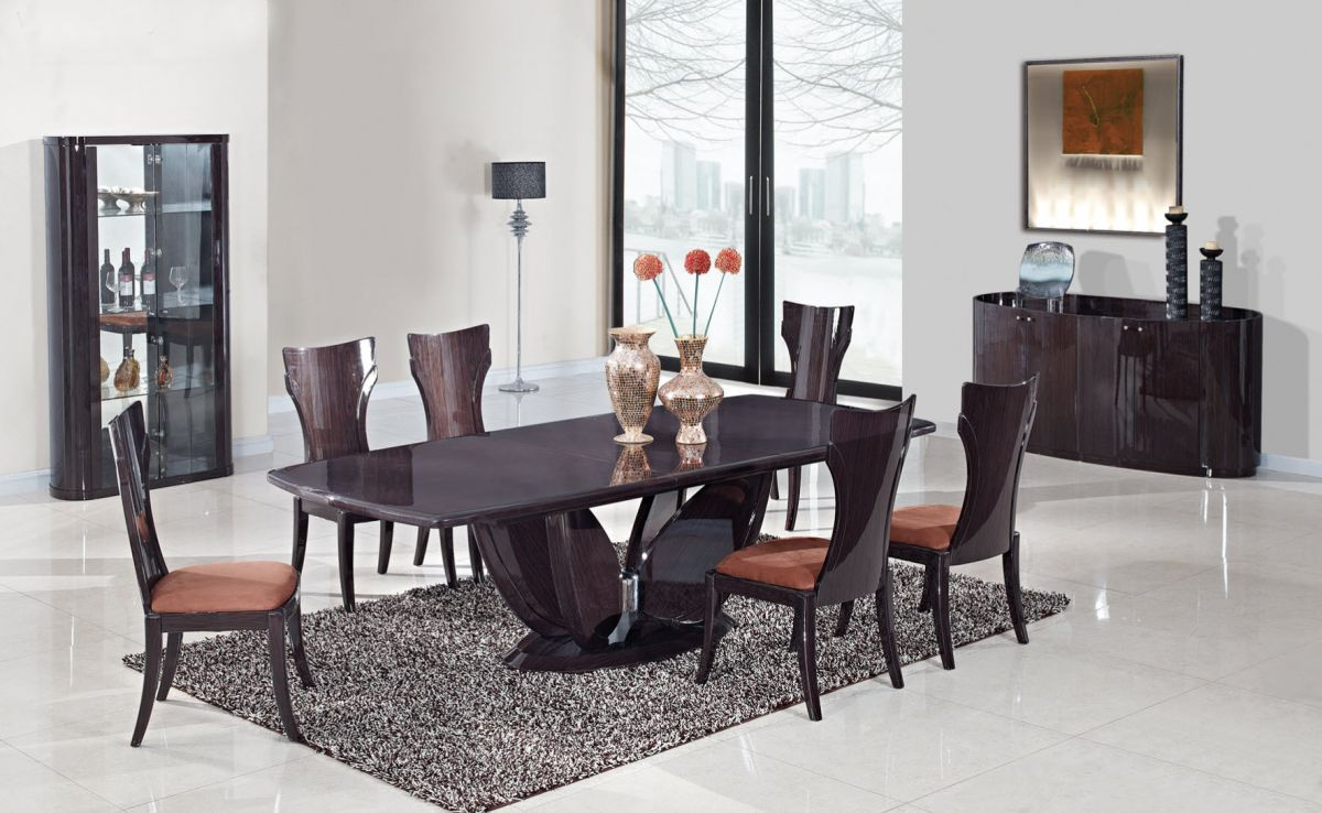 Graceful Large in Wood Glass Top Five Piece Dining Set  : gf d52 large dining room set from www.primeclassicdesign.com size 1200 x 738 jpeg 152kB